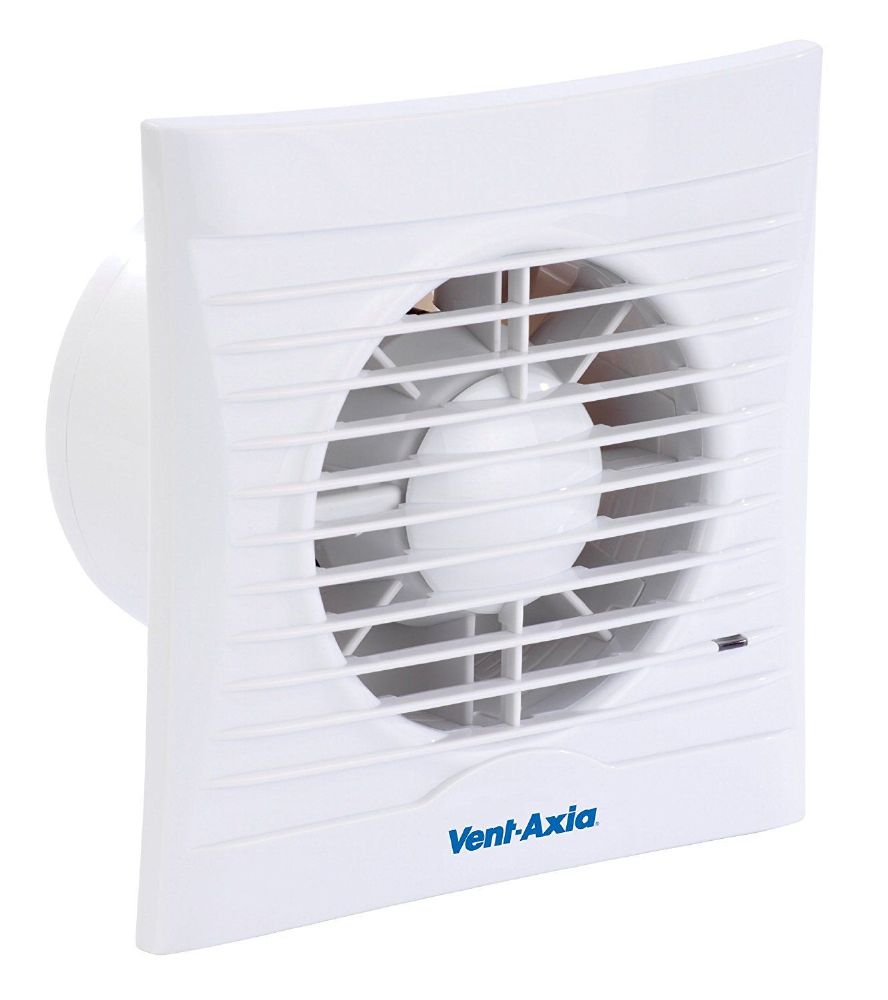 Vent-Axia SILHOUETTE 100T 454056 100mm Extractor Fan with Shutters and Timer